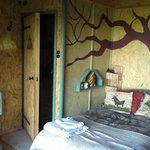 Bed & door into toilet