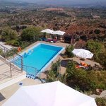Swimming pool from roof top terrace
