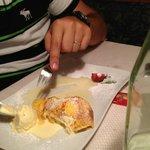 omelette con gelato di vaniglia