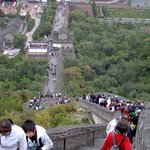up the stairs at Great Wall of China