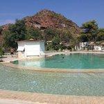 la splendida piscina...