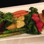 Beef tenderloin with vegetables and scalloped potatoes