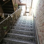the stairway to Vertical Wine Bistro