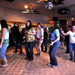 Line dancing at The Hut