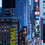 View of Times Square from our Ball Drop View room