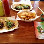 Delicious tacos, chips & salsa
