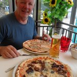 Great pizza at the Vela Azzurra restaurant