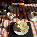 Lovely breakfast and the best eggs!