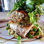 Artichoke crusted #1 Bluefin Tuna
