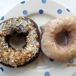 Dark Chocolate Coconut and Fresh Lemon Juice Donuts