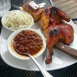 free range bbq chicken meal!