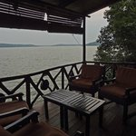 view of the lake from restaurant/lounge