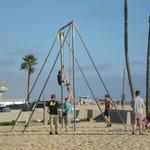 Having fun at Venice beach