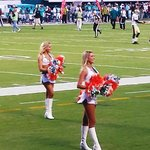 Miami Dolphins cheerleaders close up