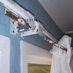 Window treatments are rusted shut