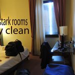 clean but stark rooms