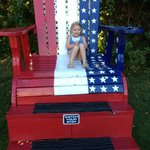 a big chair for kids to sit and take pics
