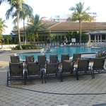 Hilton pool area