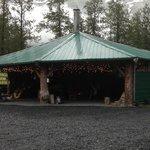 Fire pit hut, fantastic!!
