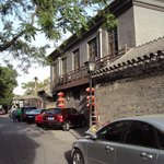 In the alley (hutong) outside
