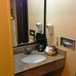 vanity outside toilet & shower room