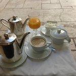 Delicious coffee and amazing orange juice!