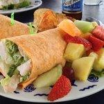 shrimp Caesar salad wrap