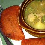 empanadas and tripe soup