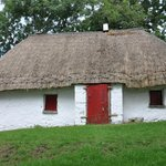Thatched roof house...