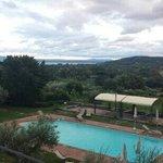View from terrace at Villa Sensi