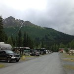 View of the RV sites and mountains in the background...