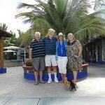 Richard, my husband, me and Gloria at courtyard entrance
