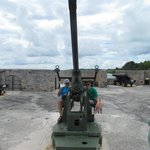 Anti-aircraft gun from WWII