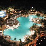 The pool in the upper left is the kiddie water park and pool area. It is amazing!