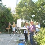 Brian Keeler and group painting at Acquaviva in June 2013