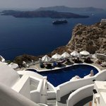 View from the balcony, Volcano View Hotel, Santorini
