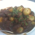Beef bourguignon--best we have ever tasted.