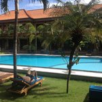 view from around the pool / view from ground floor rooms