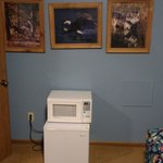 Second Bedroom art and extra microwave and fridge