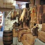 Fur pelts of many kinds