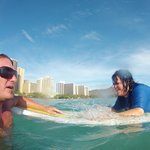 Our Surf Instructor and Me