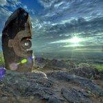 Broken Hill sculptures at sunset, 1