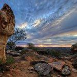 Broken Hill Sculptures at sunset, 2