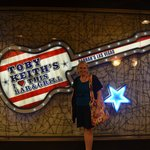 My friend outside Toby Keith's I Love This Bar and Grill at Harrah's in Las Vegas