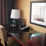 Hotel desk by window
