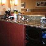 Hotel room bar w Micro/fridge