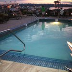 hotel roof pool sunset/dusk