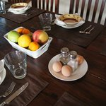 Many fresh options for breakfast