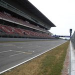 View of the main straight from the pitwall