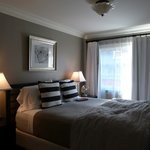 Comfortable King bed with nice linens